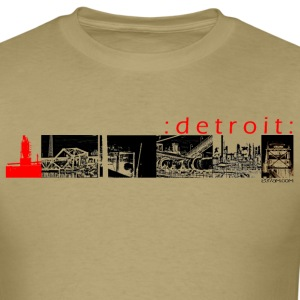 Khaki 08detroitpics1redblack T-Shirts (Short sleeve) - Men's T-Shirt