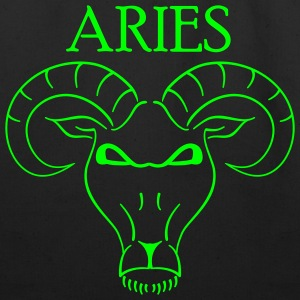 Black aries_shirt Accessories - Eco-Friendly Cotton Tote