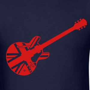 union jack guitar - Men's T-Shirt