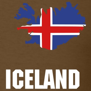 Brown Iceland flag map Men - Men's T-Shirt