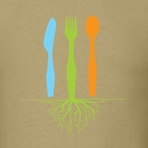 Dinner Roots Khaki - Men's T-Shirt