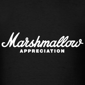 Black Marshmallow Appreciation T-Shirts - Men's T-Shirt