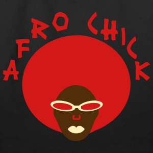 Black Afro Chick Accessories - Eco-Friendly Cotton Tote