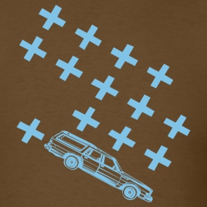 Brown station wagon tshirt blue Men - Men's T-Shirt