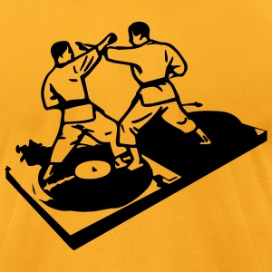 Gold kungfu dj design Men - Men's T-Shirt by American Apparel