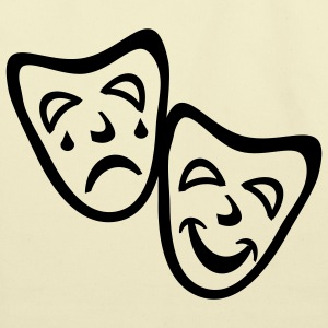 Creme Comedy And Tragedy Masks Accessories - Eco-Friendly Cotton Tote