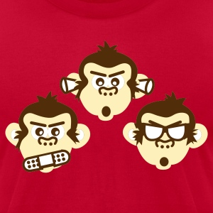 Light blue three wise monkeys Men - Men's T-Shirt by American Apparel