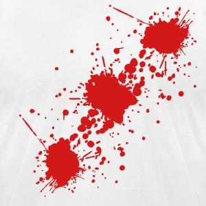 White blood Men - Men's T-Shirt by American Apparel