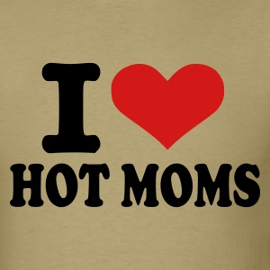 Khaki I love hot moms Men - Men's T-Shirt