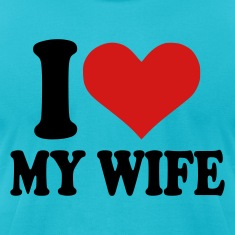 Turquoise I love my wife Men