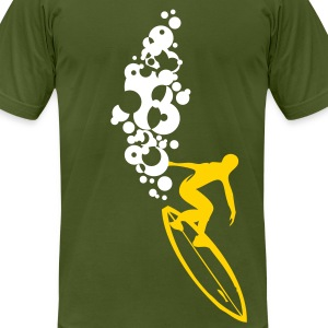 Big Gun Surfer T-shirt - Men's T-Shirt by American Apparel
