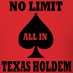 Red Poker - Texas Holdem - All in Men - Men's T-Shirt