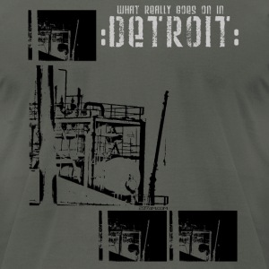 DETROIT industrial - Men's T-Shirt by American Apparel