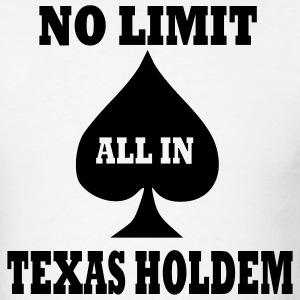 White Poker - Texas Holdem - All in Men - Men's T-Shirt