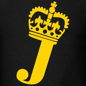 Black Crown - J – Name Men - Men's T-Shirt