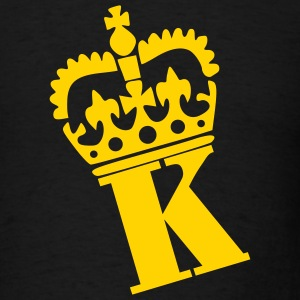 Black Crown - K – Name Men - Men's T-Shirt