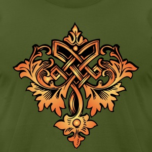 Olive ornamental design T-Shirts (Short sleeve) - Men's T-Shirt by American Apparel