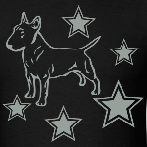 Black bullterriercolstar2 Men - Men's T-Shirt
