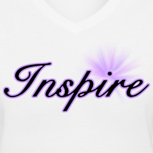 White Inspire Women - Women's V-Neck T-Shirt