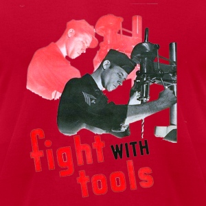 Lemon fight with tools designer graphic Men - Men's T-Shirt by American Apparel