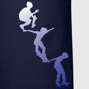 Navy skater drop in design Men - Men's T-Shirt