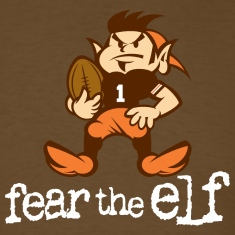 Fear The Elf Brown Tee