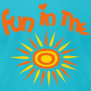 Turquoise Fun In The Sun Men - Men's T-Shirt by American Apparel