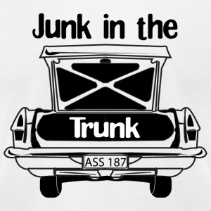 White Junk in the Trunk T-shirt Design Men - Men's T-Shirt by American Apparel