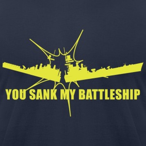 Navy You Sank My battleship T-shirt Design Men - Men's T-Shirt by American Apparel