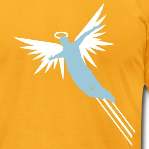 Gold Learn to Fly Men - Men's T-Shirt by American Apparel