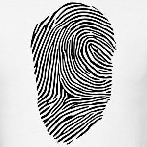 White Fingerprint Men - Men's T-Shirt