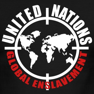 Black/white UN global enslavement Men - Men's Ringer T-Shirt