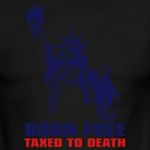 White/red Born free, Taxed to death Men - Men's Ringer T-Shirt
