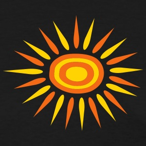 Black Big Sun With Alternate-Color Rays and Rings Women - Women's T-Shirt