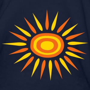 Navy Big Sun With Alternate-Color Rays and Rings Women - Women's T-Shirt