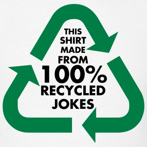 White 100% Recycled Jokes Men - Men's T-Shirt