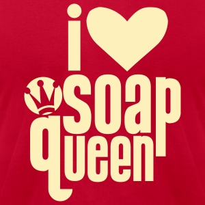Bright green I heart Soap Queen T-Shirts - Men's T-Shirt by American Apparel