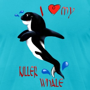 I Love My Killer Whale  - Men's T-Shirt by American Apparel