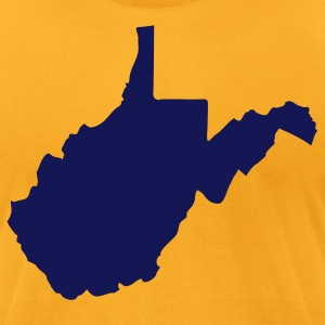Gold State of West Virginia solid Men - Men's T-Shirt by American Apparel