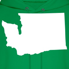 Green State of Washington solid Men