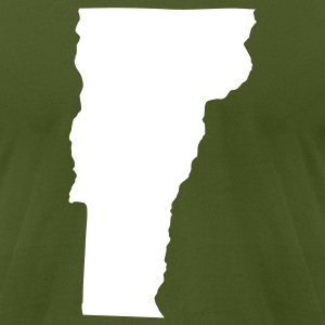 Olive State of Vermont solid Men - Men's T-Shirt by American Apparel