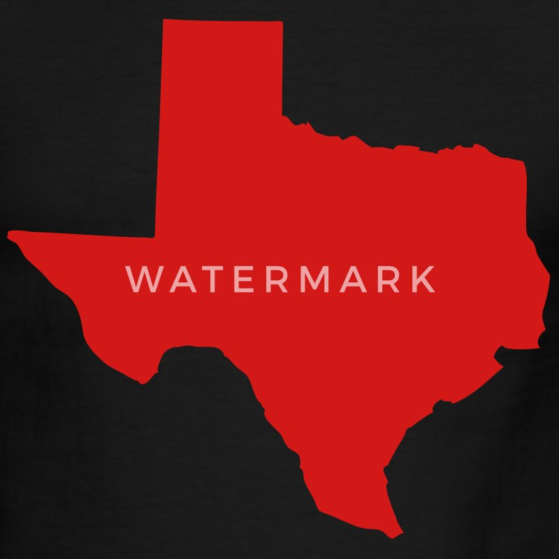 White/red State of Texas solid Men - Men's Ringer T-Shirt