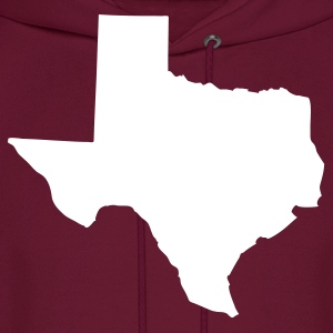 Burgundy State of Texas solid Men - Men's Hoodie