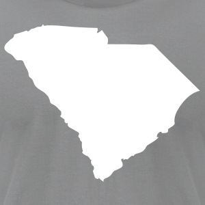 Slate State of South Carolina solid Men - Men's T-Shirt by American Apparel