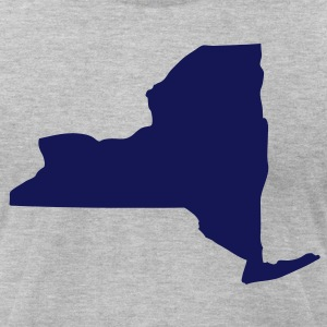 Heather grey State of New York solid Men - Men's T-Shirt by American Apparel