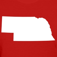 Red State of Nebraska solid Women