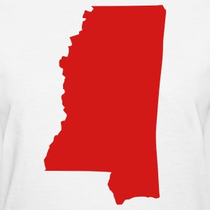 White State of Mississippi solid Women - Women's T-Shirt
