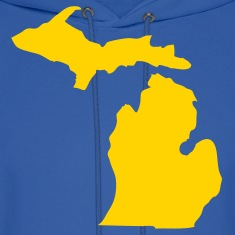 Royal blue State of Michigan solid Men