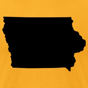 Gold State of Iowa solid Men - Men's T-Shirt by American Apparel
