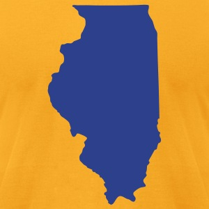 Gold State of Illinois solid Men - Men's T-Shirt by American Apparel